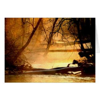 Salida del sol en el lago y el río Mad Huffman Felicitaciones