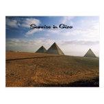 Salida del sol en el llano de Giza Postal