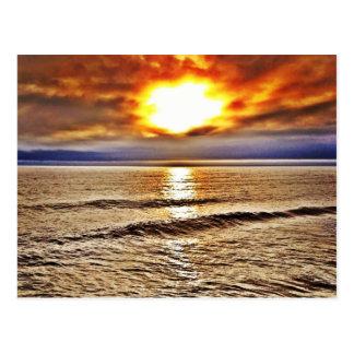 Salida del sol en el OBX del océano de Carolina de Postales