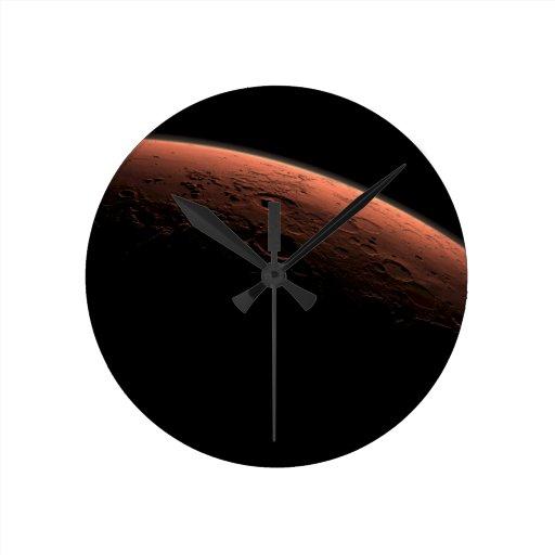 Salida del sol en el planeta Marte del cráter del  Relojes