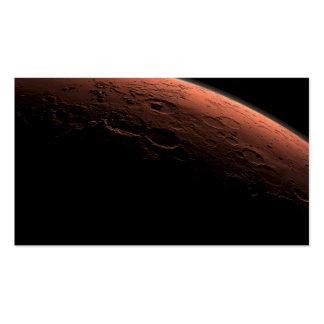 Salida del sol en el planeta Marte del cráter del Tarjeta De Visita