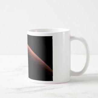 Salida del sol en el planeta Marte del cráter del Tazas