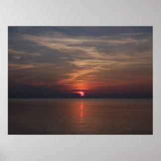 Salida del sol en el poster de Delray Beach