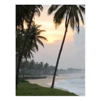 Salida del sol en Elmina, Ghana Tarjeta Postal