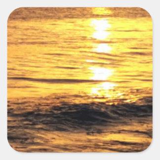 Salida del sol en Grecia Calcomania Cuadrada Personalizada