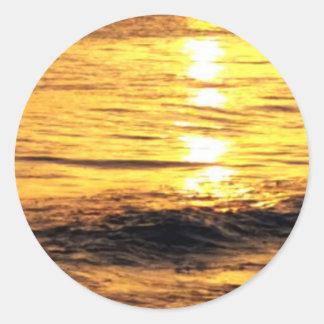 Salida del sol en Grecia Pegatinas Redondas