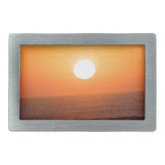 Salida del sol en la costa atlántica hebillas cinturón rectangulares