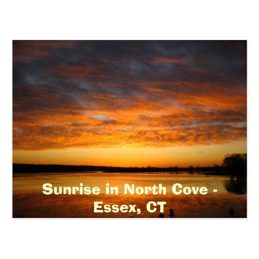 Salida del sol en la ensenada del norte - Essex, Postales