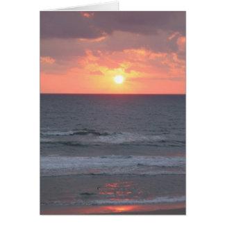 Salida del sol en la Florida Tarjeta De Felicitación
