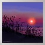Salida del sol en la impresión de Great Lakes Posters