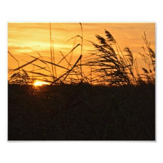 Salida del sol en la impresión de la foto del fotografía