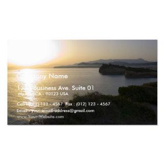 Salida del sol en la isla de Corfú en Grecia 3 Plantilla De Tarjeta Personal