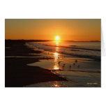 Salida del sol en la playa de Horseneck Tarjetón