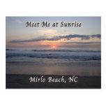 Salida del sol en la playa de Mirlo, Carolina del Postal