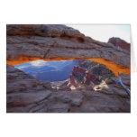 Salida del sol en la tarjeta de Utah del arco del
