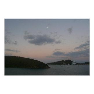 Salida del sol en las Islas Vírgenes de St Thomas Perfect Poster