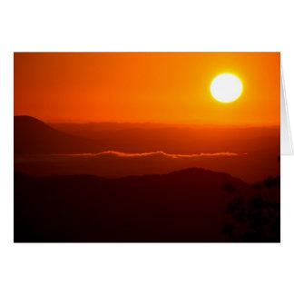 Salida del sol en las montañas del Cumberland Tarjeta De Felicitación