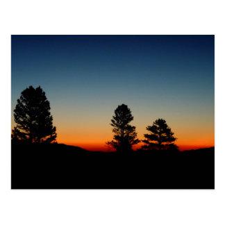 Salida del sol en las sierras del este CA ninguna Tarjetas Postales