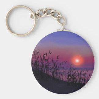 Salida del sol en los Great Lakes Llavero Redondo Tipo Pin