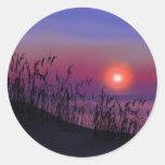 Salida del sol en los Great Lakes Pegatina Redonda