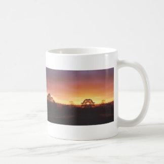 Salida del sol en los valles de Yorkshire Taza De Café