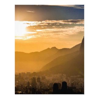 Salida del sol en Río de Janeiro Membrete A Diseño