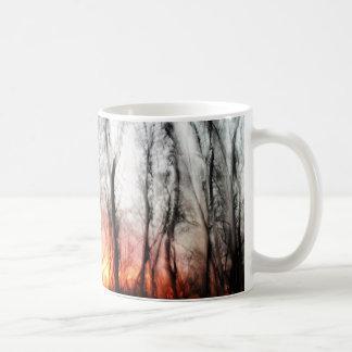 Salida del sol esmaltada taza de café