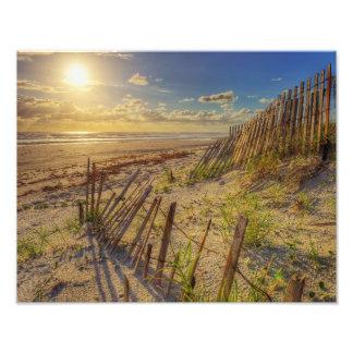 Salida del sol espectacular del océano en Daytona Fotografía