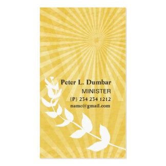 Salida del sol espiritual del oro religiosa tarjetas de visita