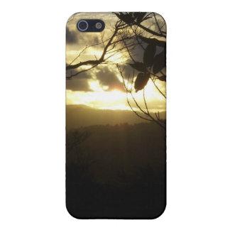 Salida del sol iPhone 5 carcasas