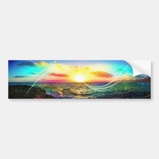 Salida del sol hawaiana pegatina de parachoque
