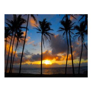 Salida del sol hawaiana postales