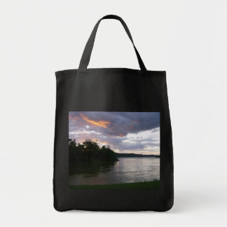Salida del sol hermosa a lo largo del río Ohio Bolsa Tela Para La Compra