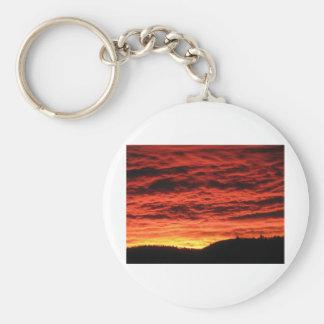 Salida del sol hermosa de Colorado Llavero Redondo Tipo Pin