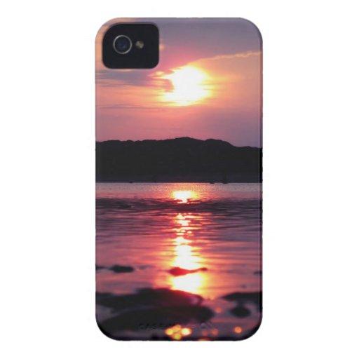 Salida del sol hermosa de la playa iPhone 4 Case-Mate fundas