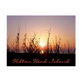 Salida del sol Hilton Head Island Tarjetas Postales