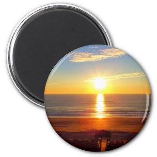 Salida del sol imán redondo 5 cm