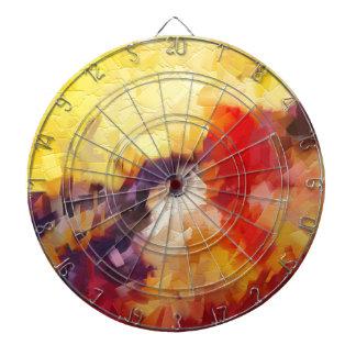 salida del sol impresionista abstracta de la tablero dardos