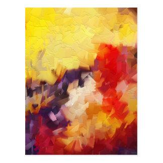 salida del sol impresionista abstracta de la postales