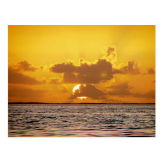 Salida del sol, isletas ahogadas, Belice Tarjeta Postal