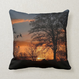 Salida del sol, la belleza de la naturaleza almohadas