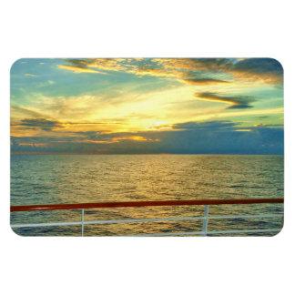 Salida del sol marina horizontal imán rectangular