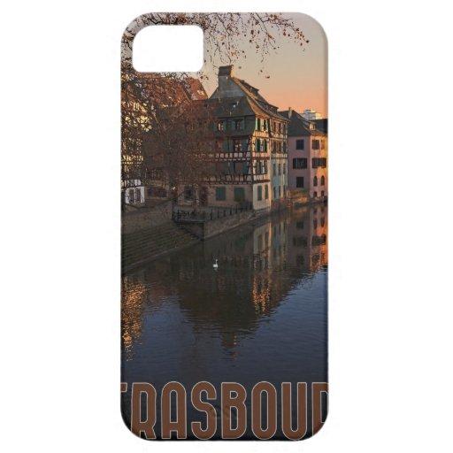 Salida del sol menuda de Estrasburgo - Francia iPhone 5 Funda