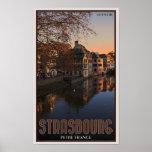 Salida del sol menuda de Estrasburgo - Francia Posters