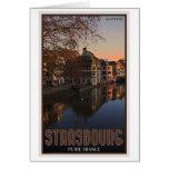 Salida del sol menuda de Estrasburgo - Francia Felicitación