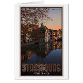 Salida del sol menuda de Estrasburgo - Francia Tarjeta De Felicitación
