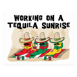 Salida del sol mexicana divertida del Tequila Tarjeta Postal