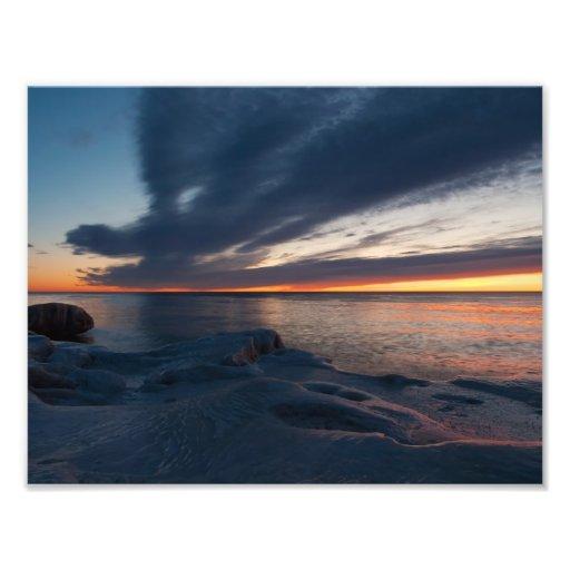Salida del sol Milwaukee, Wisconsin de North Point Fotografía
