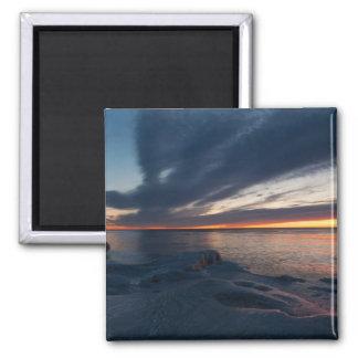Salida del sol Milwaukee, Wisconsin de North Point Imán Cuadrado