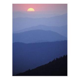 Salida del sol montañas apalaches meridionales g postales